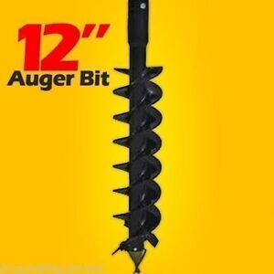 12 Skid Steer Auger Bit Mcmillen Hdc For Difficult Digging 2 Hex Drive