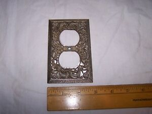 Vintage Fancy Ornate Mid Century Modern Outlet Cover
