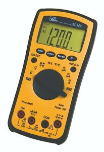 Ideal 61 342 Test pro Digital Multimeter W Trms Temp Cap Hz Backlight