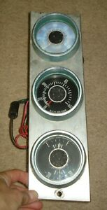 Vintage Stewart Warner Boat Gauges Tach Speedometer Fuel Amps Johnson Reveler