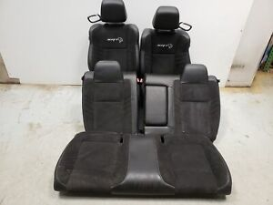 2018 Dodge Challenger Srt Hellcat Seats Front Rear Left Right Black Leather Oem
