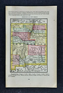 1885 Mcnally Map New Mexico Santa Fe Las Vegas Cimarron Albuquerque Taos Nm