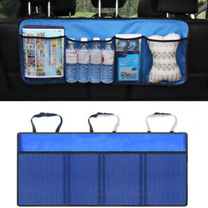 Auto Car Boat Organizer Trunk Rear Back Seat Storage Bag Mesh Net Pocket Usa 1pc