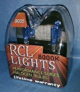 New Cool Blue 9005 Hb3 Xenon Halogen Hid High Beam Headlights Bulbs 8000k