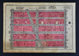 1934 New York City Map Herald Square Macy S Penn Station Empire State Building