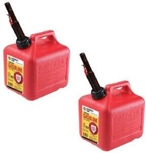 2 Ea Midwest Can Co 2310 2 Gallon Gas Cans W Flameshield Shut Off Spout