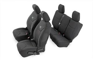 Rough Country Front Rear Seat Cover Set Fits Jeep Jk Wrangler 2 Door 2007 2010