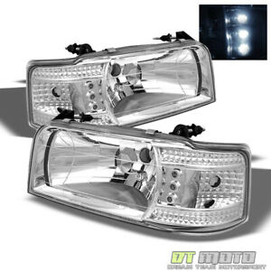 1992 1996 F150 F250 F350 Bronco 2in1 Led Headlights Built In Corner Signal Lamps