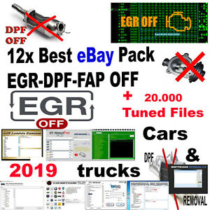 12x Best 2019 Software Pack Egr Dpf Off Cars Trucks Tuned Files