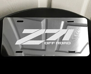 Z71 Truck Vanity License Plate Laser Etched Mirror Aluminum Fits Chevy Silverado