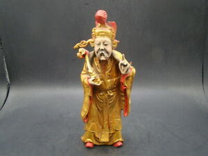 Chinese 1920 S Nice Carved And Original Painted Camphor Wood Figure T9745