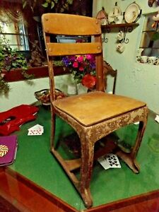 Mid Century 1 Or 2 Grade Child S Wood And Metal School Desk Chair Industrial