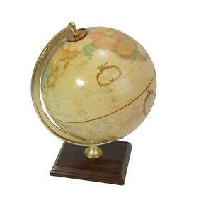 Vintage Replogle Legend 9 Desk Globe Wood Base World Classic