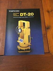 Topcon Dt 2o Theodolite Detailed Brochure Surveyor