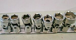 7 Piece Set Craftsman Chrome Metric Shallow Wobble Sockets 11 19 Mm 3 8 Drive