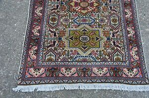 Genuine Caucasian Design Rug Wool Silk Pile 3x5 Nice