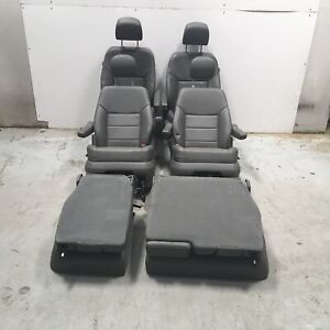 2013 Volkswagen Routan Seats Front Rear 3rd Row Left Right Grey Leather Oem
