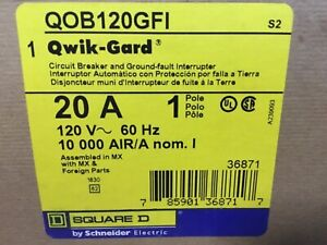 Square D Qob120gfi Breaker New In The Box 2 Available