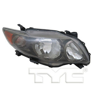 Tyc 20 6993 90 9 Right Headlight Assembly For 2009 2010 Toyota Corolla To2503183