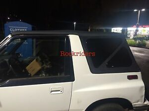 1988 1994 Suzuki Sidekick Geo Tracker Vitara Black Soft Top And Tinted Windows