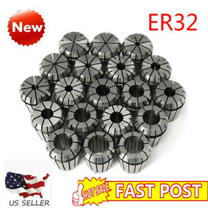 19pcs Er32 Collet Set 2mm To 20mm In Metric Accurate High Accuracy Hrc56 60 Usa
