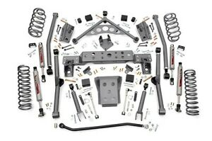 Rough Country 4 Wj Jeep Grand Cherokee Long Arm Suspension Lift Kit 99 04