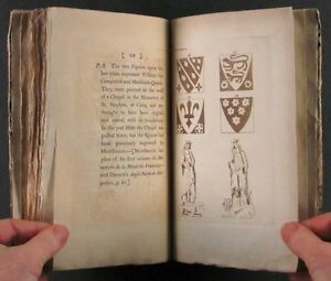 1794 Book Norman French Armorial Tiles At Abbey In St Etienne France