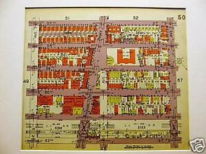 Brooklyn Map 1929 Boro Park 62nd 57th St 9th 11th Ave Matted
