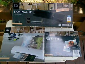 Thermal Hot Laminator Machine Nib Lot 190 Lamination Pouches Assorted Sizes Nib