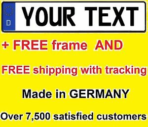Custom German Euro License Plate Volvo Audi Bmw Porsche Volkswagen Mercedes Tag