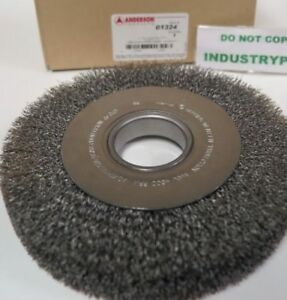 01324 8 Anderson Wide Crimped Steel Wire Wheel Brush 2 A h Da8 014 Medium
