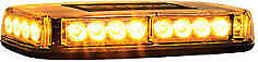 Buyers 8891040 Led Rect Mag Perm Mount Emergency Amber Mini Light Bar Tow Plow