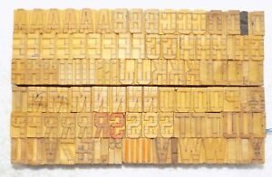 103 Piece Vintage Letterpress Wood Wooden Type Printing Blocks 20 M m bc 3094