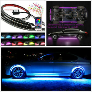 4x Flexible Colorful Chassis Lamp 5050 Smd Led Light Strip 210 Model App Control