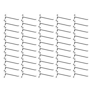 50 Pc Gloss Black 8 Long Gridwall Hooks Grid Panel Display Wire Metal Hanger