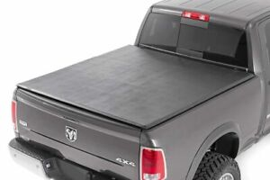 Rough Country Soft Tri fold fits 2019 2020 Dodge Ram 6 4 Ft Bed tonneau Cover