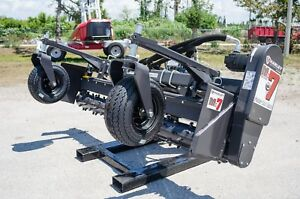 Volvo Skid Steer Loader Harley Power Landscape Rake 7 Hydraulic Angle Fits All
