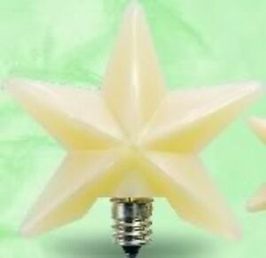 1 1 2 Medium Star Silicone Bulb With Replacable 3 W Candleobra Bulb For Lamps