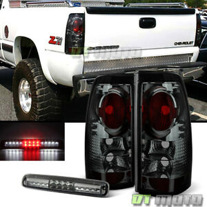 Smoked 1999 2002 Silverado 1500 Gmc Sierra Tail Lights Led 3rd Brake Cargo Lamp