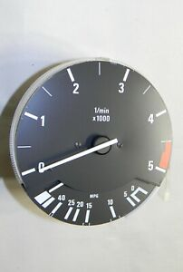 Bmw E30 325e Tachometer Revolution Counter Fuel Economy 5000 Rpm Vdo 62131385478