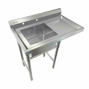 Commercial Utility 39 Stainless Steel Sink Silver For Outdoor Laundry Room New