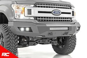Rough Country Heavy Duty Front Offroad Bumper W Leds fits 2018 2019 Ford F150