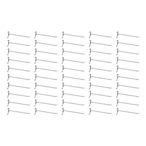 50 Pc Chrome 12 Long Gridwall Hooks Grid Panel Display Wire Metal Hanger Retail