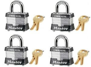 4 Master Lock 3ka 3210 1 1 2 Keyed Alike Laminated Padlocks