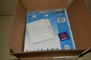 Avery Legal Exhibit Dividers 11372 Case Of 12 New Packages c1