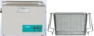 New Crest 2 5 Gallon Cp1200d Ultrasonic Heated Cleaner Basket