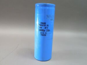 Sprague 10000uf 250v Powerlytic 36dx Can Electrolytic Capacitor 36dx103f250dj2a