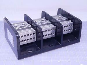 Marathon 1453592 Terminal Block Power Distribution 3 Pole 760 Amps 600v T119