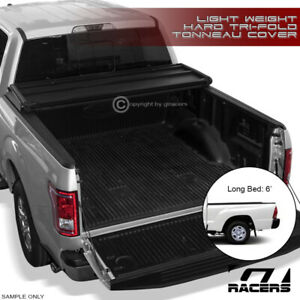 For 2016 2020 Tacoma Access Double 6 72 Long Bed Tri Fold Hard Tonneau Cover Lw