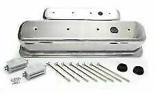 Center Bolt Aluminum Breather Holes Valve Covers Sbc Smooth Chevy